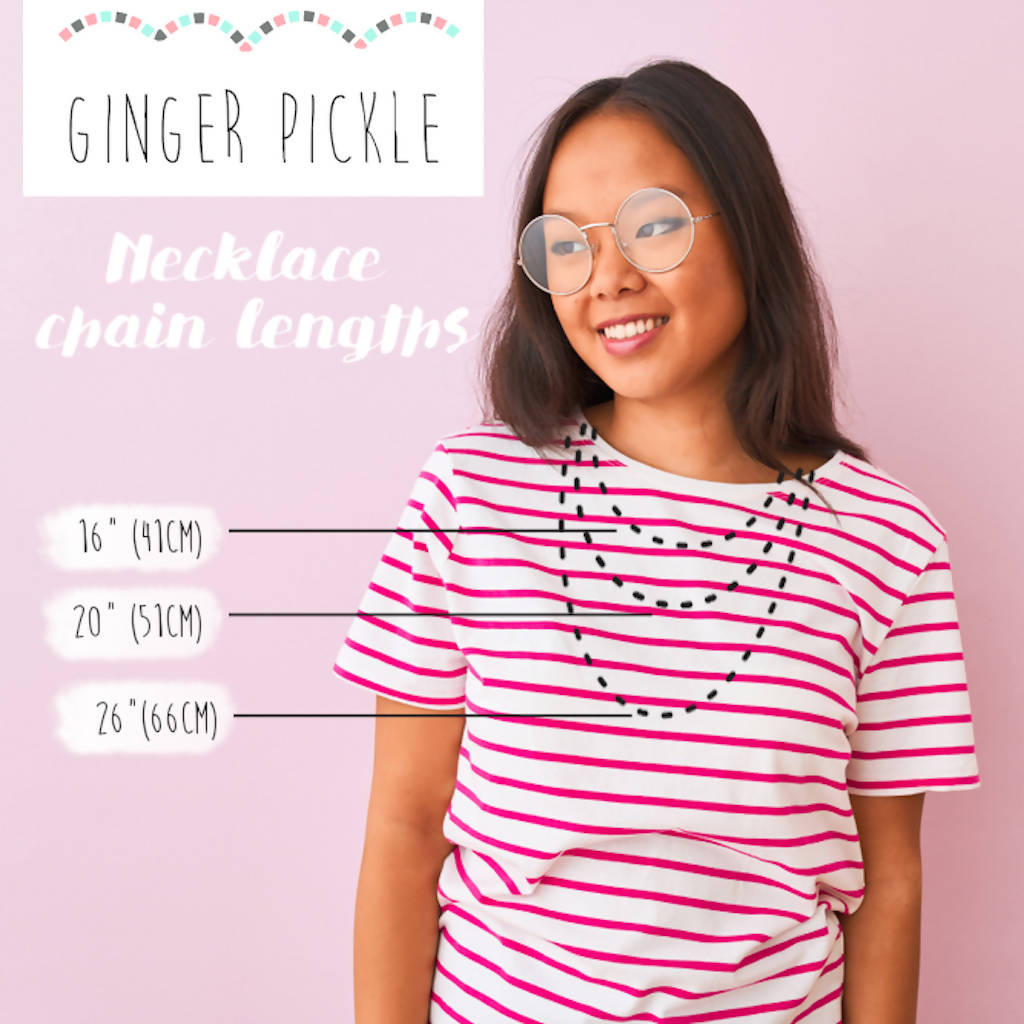 Necklace Chain Length Chart-Ginger Pickle