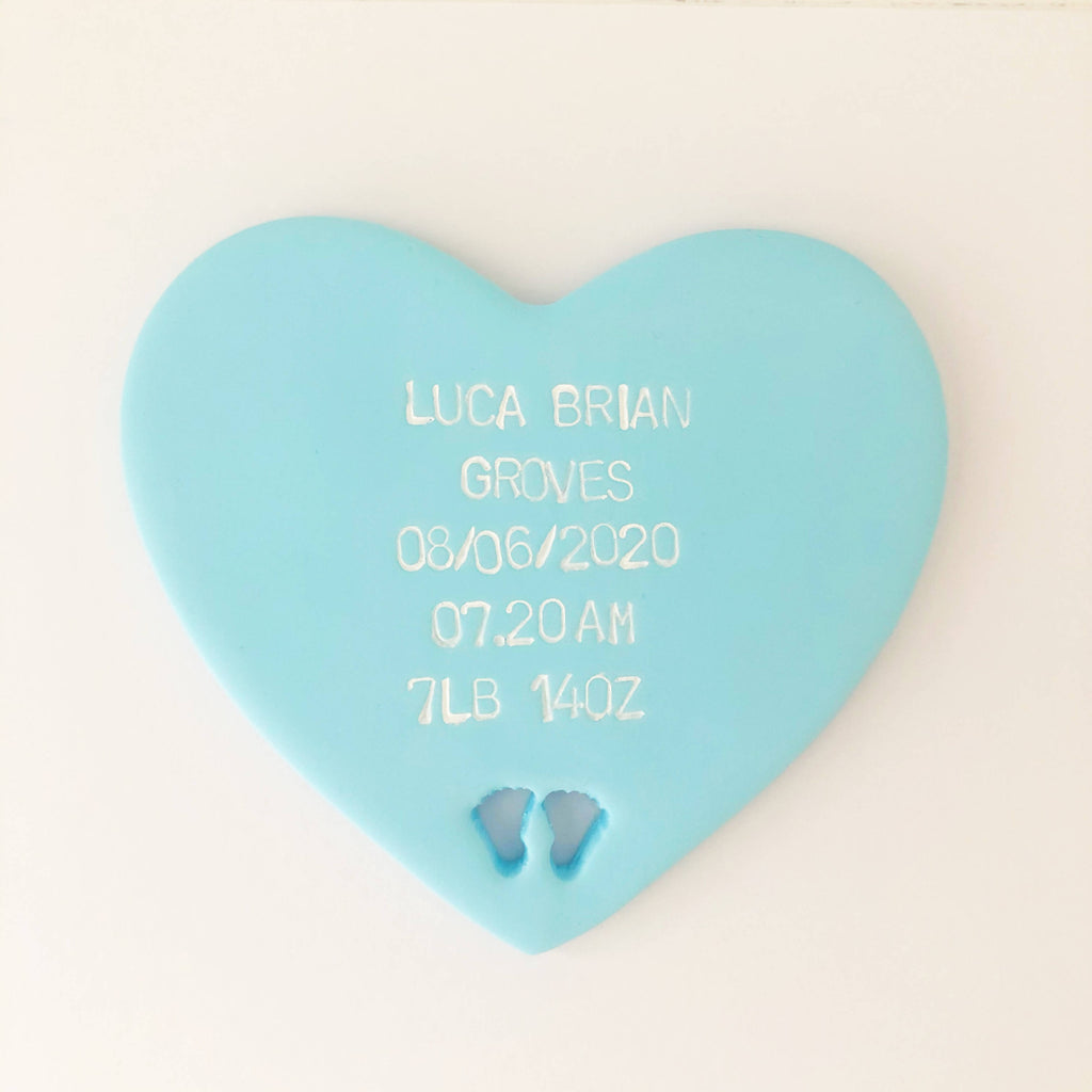 Personalised New Baby gift heart