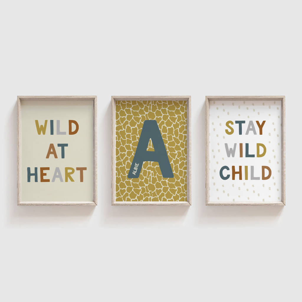 Personalised Safari Print - Kids Room/Nursery