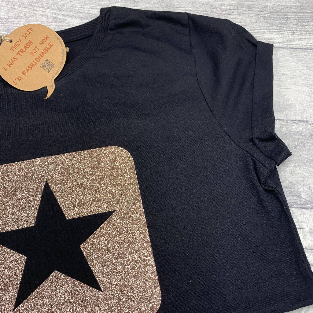 Glitter Star Recycled T-Shirt - Eco-Friendly