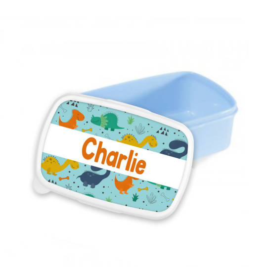Personalised Dinosaur Snack/Sandwich Box