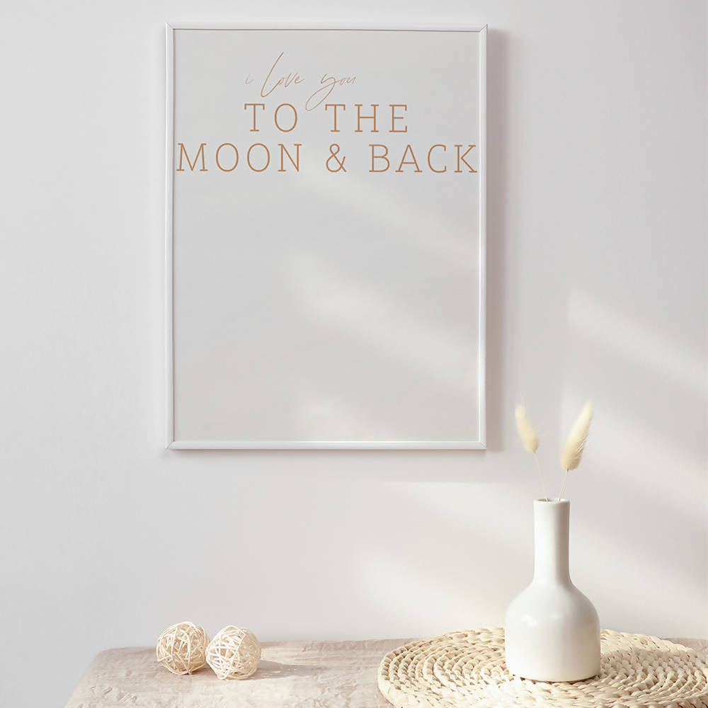 I love you to the Moon & Back Print on Recycled Card Stock