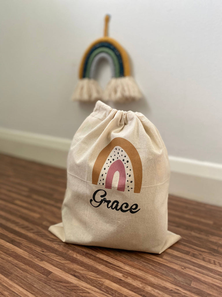 Personalised Rainbow Drawstring Bag