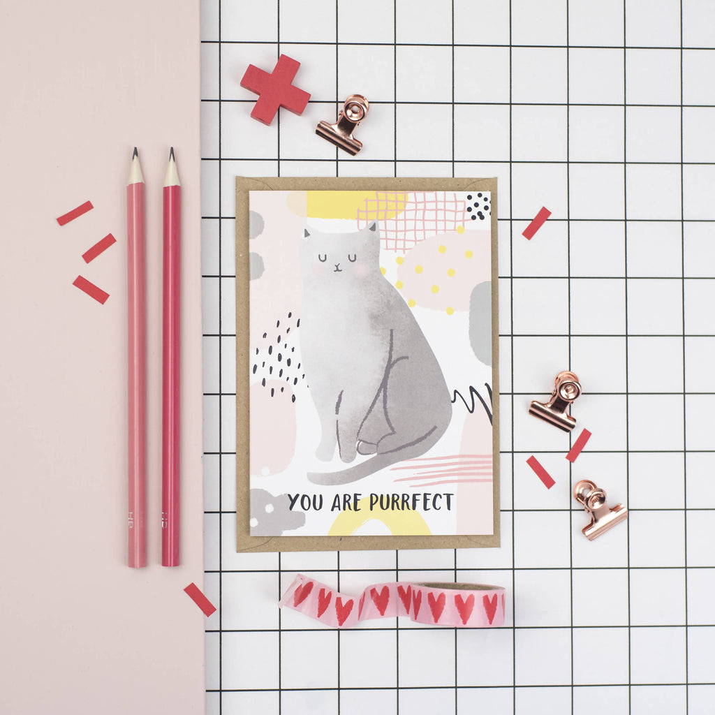 You are purrfect A6 card