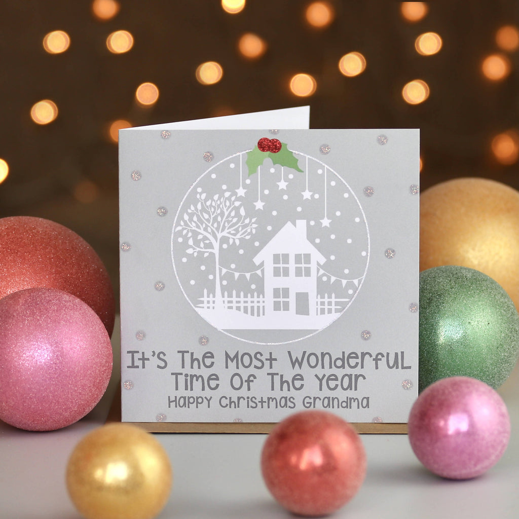 Personalised Winter Snow Globe Christmas Card