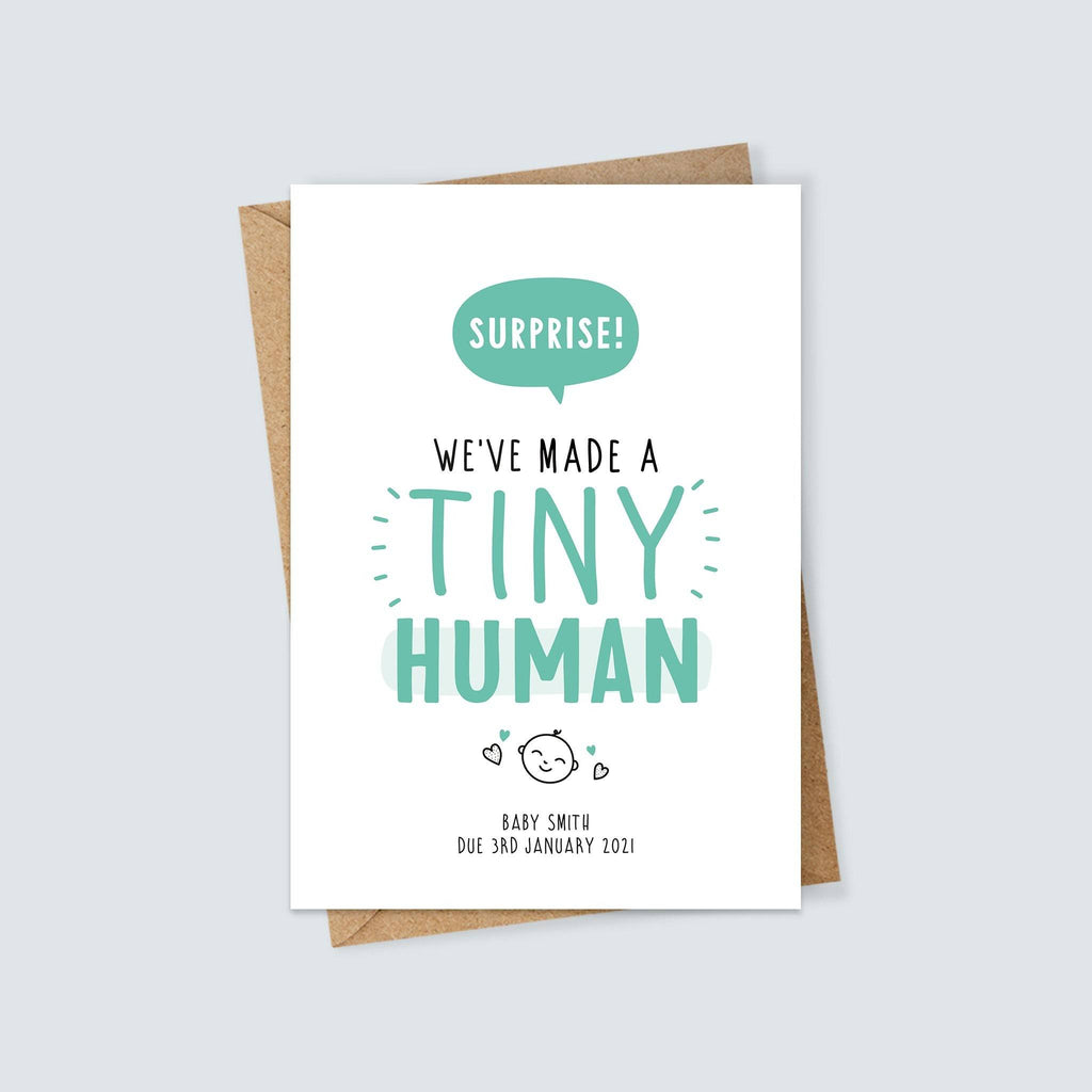 Personalised Surprise! We've Made a Tiny Human Card