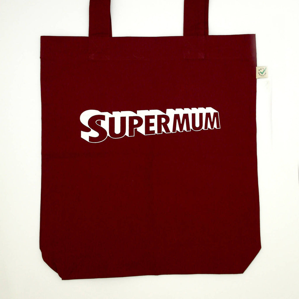 Supermum Organic Cotton Tote Bag