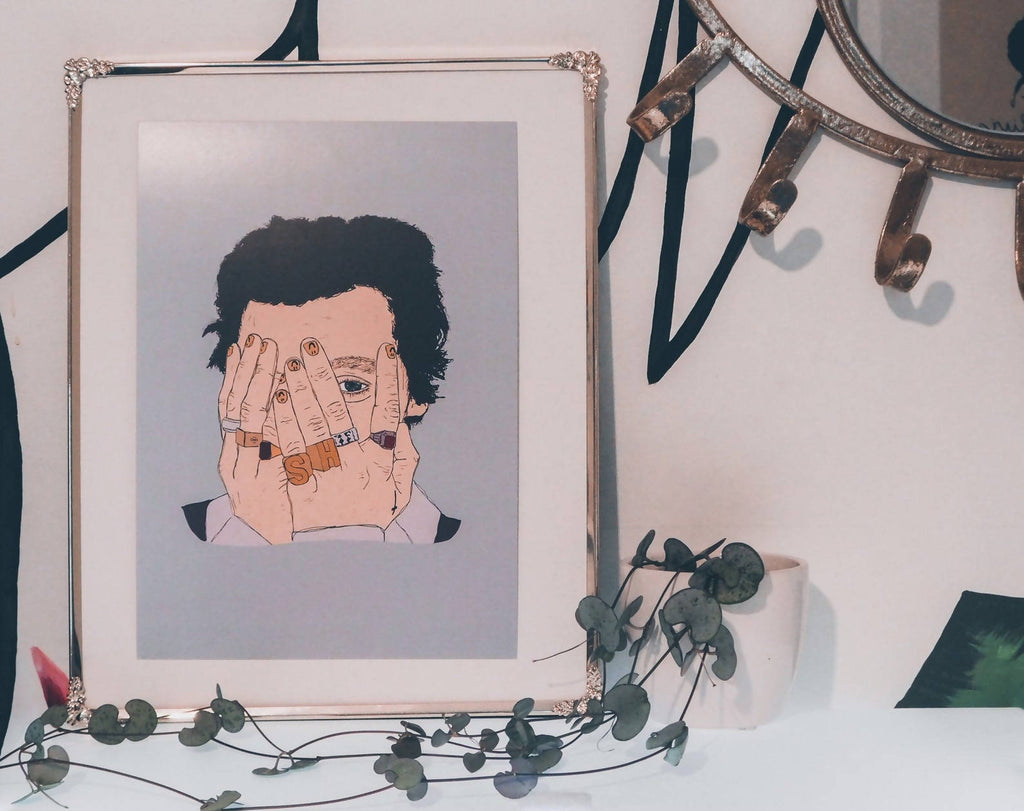 Harry Styles digital illustration A5 Print HS Ring Photography