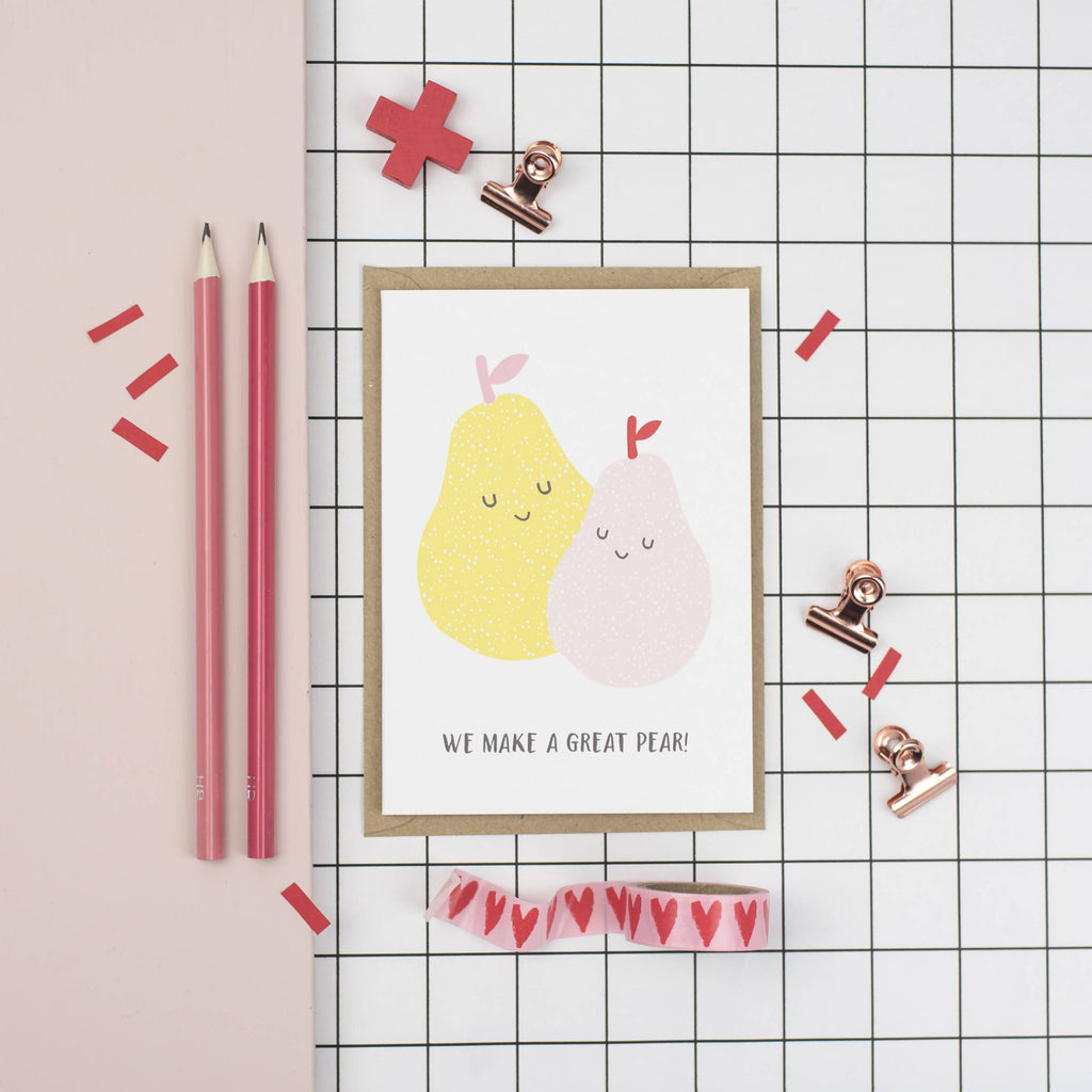 We make a great pear A6 card