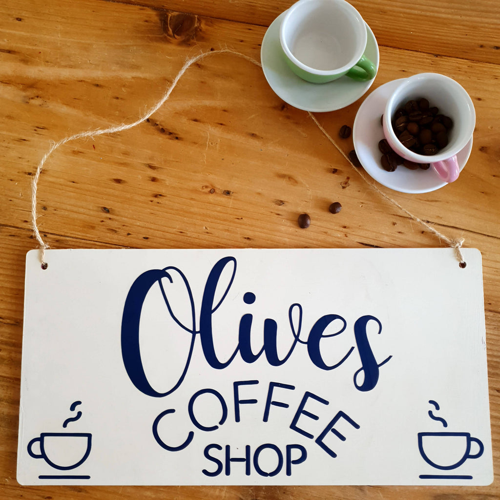 Children's make believe coffee shop play sign/plaque gift