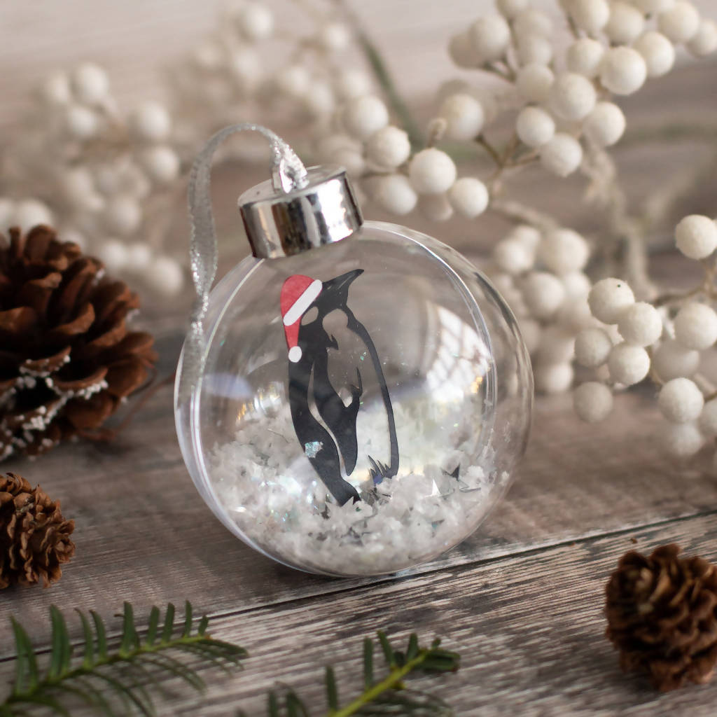 Paper Cut Penguin Christmas Bauble