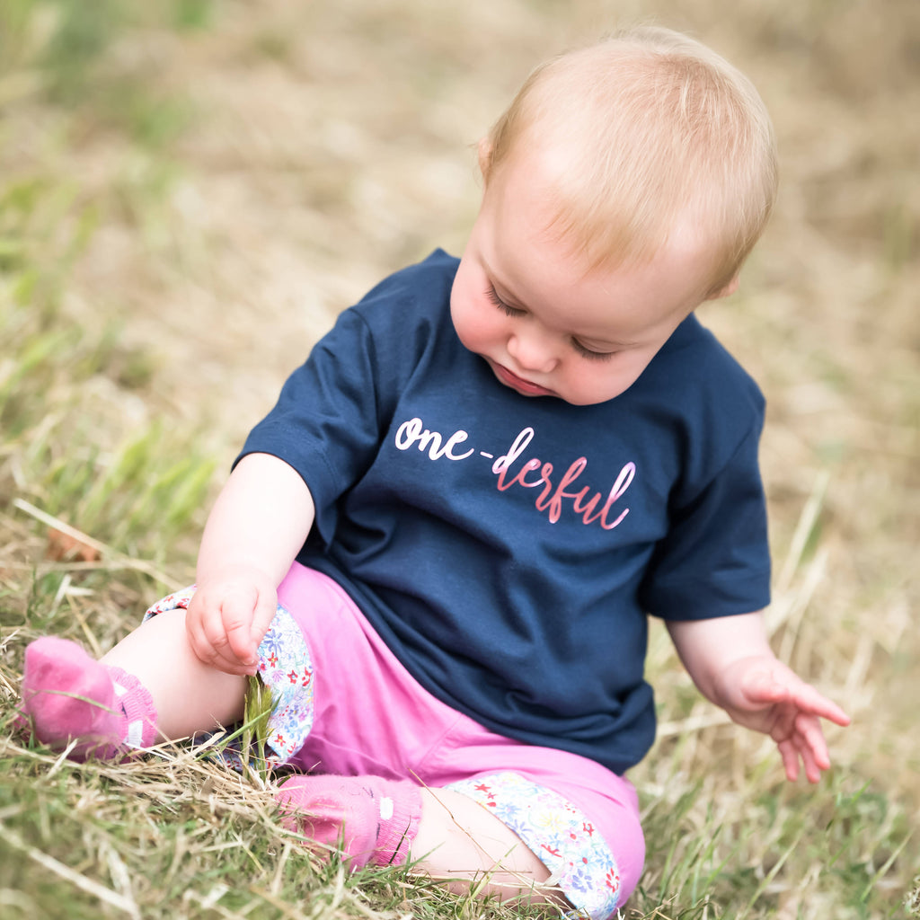 One-Derful Slogan 1st Birthday T-Shirt