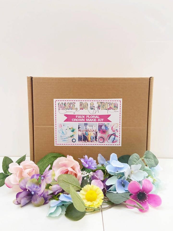 Faux Floral Flower Crown DIY Craft Kit