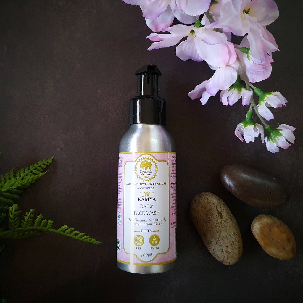 Kamya Face Wash (For Sensitive & Normal/Pitta Skin) 100ml (Turmeric, Sandalwood and Jasmine)