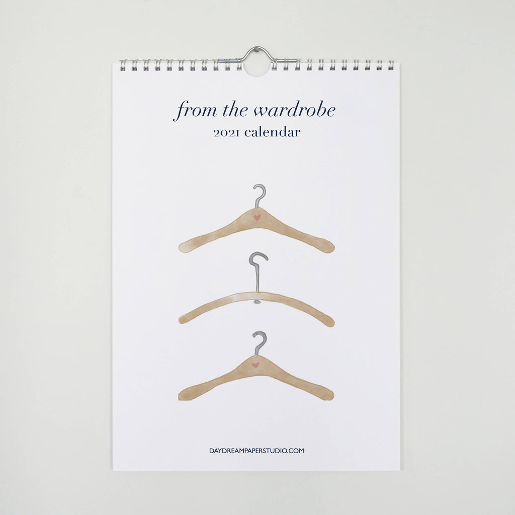 From the Wardrobe, 2021 reference wall calendar