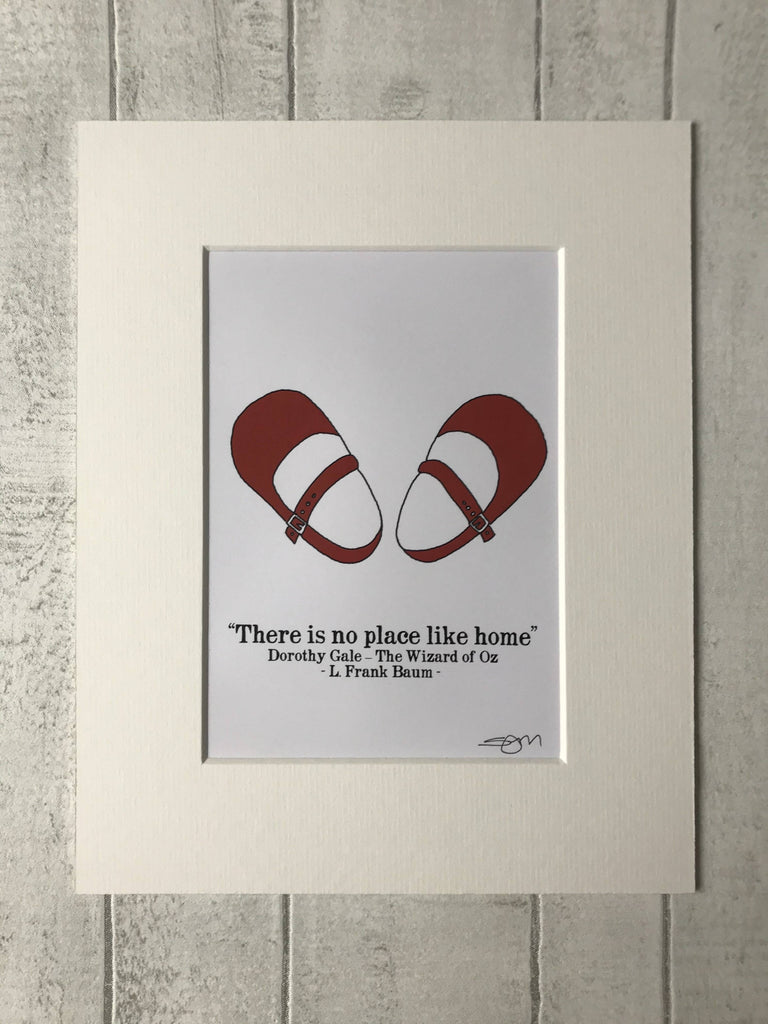 There is no place like home - Dorothy Gale - L Frank Baum's The Wizard of Oz - Mounted Digital Art Print