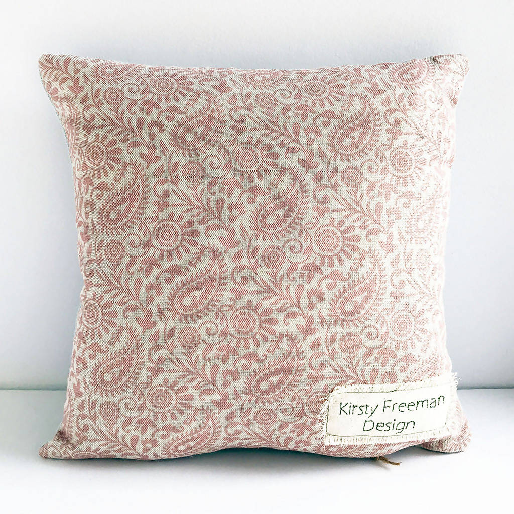 Embroidered Cushion, Animal Pillow, Pig Cushion