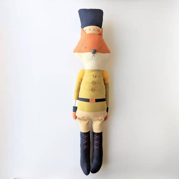 Soldier fox doll