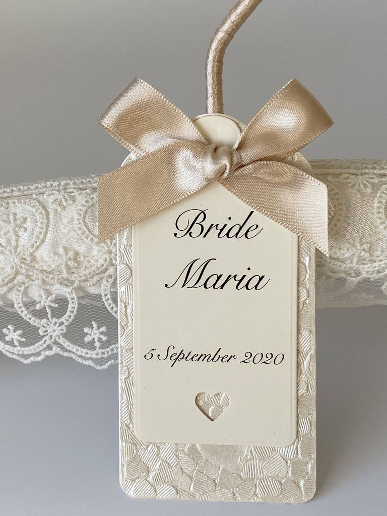Personalised Ivory Wedding Hanger