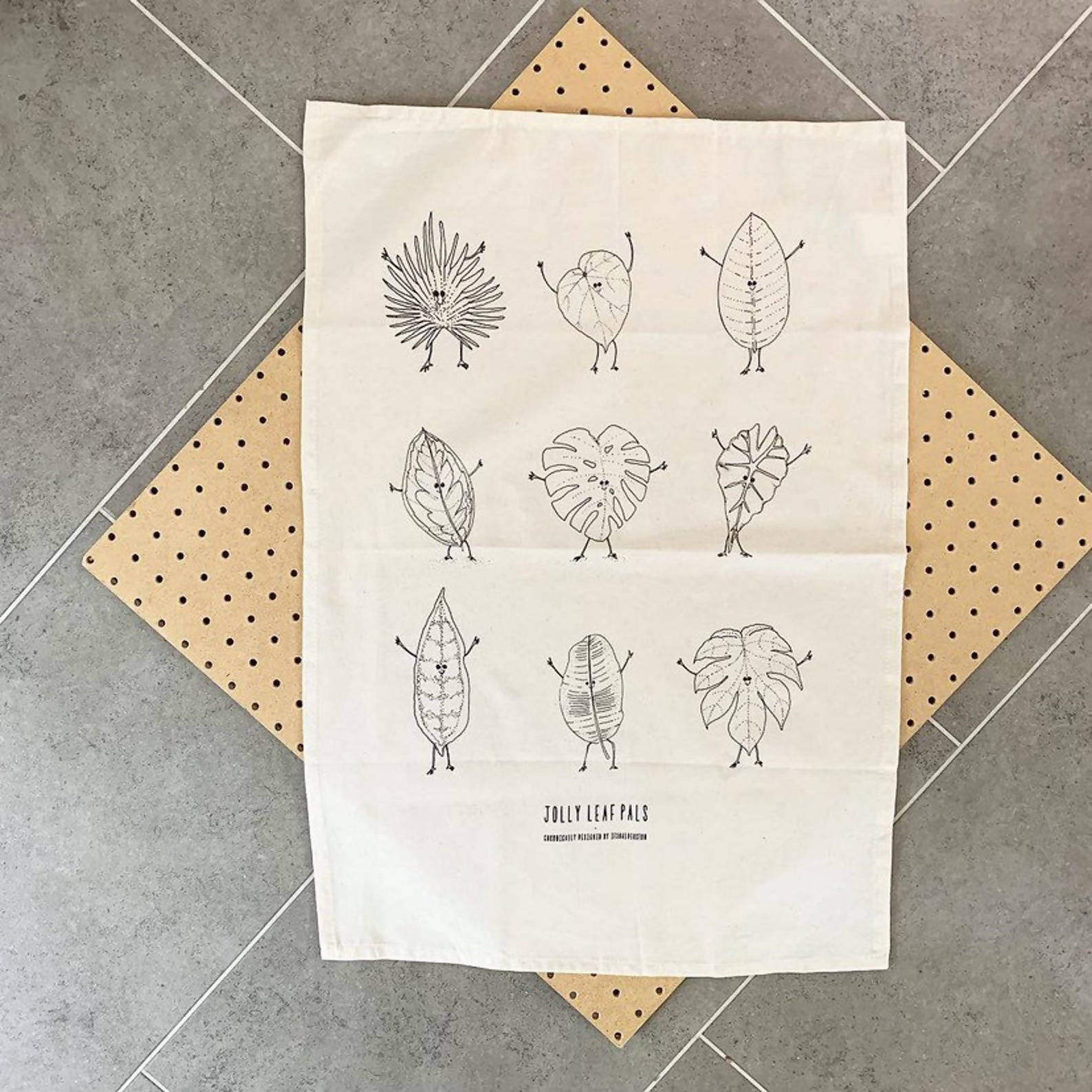 Jolly Leaf Pals Tea Towel