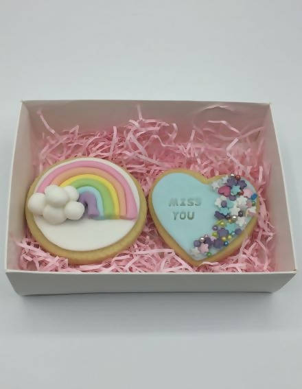 Personalised Rainbow Biscuits