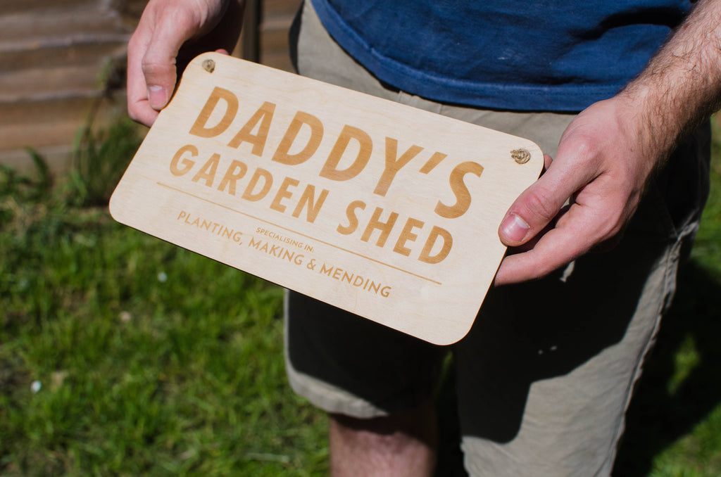 Wooden personalised Shed sign