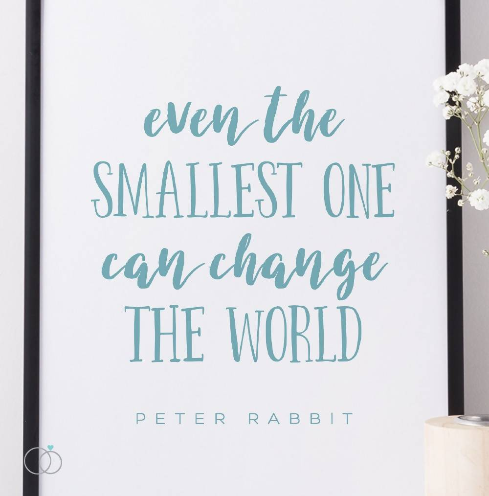 Peter Rabbit Quote Print - Nursery Art - Inspirational Quote Art - LoveLi