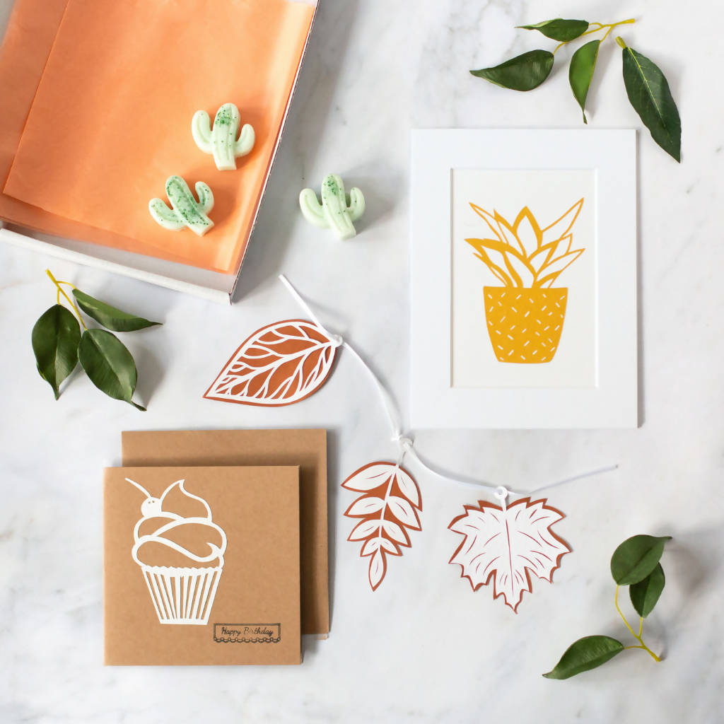 Golden Plant Letter Box Gift Set