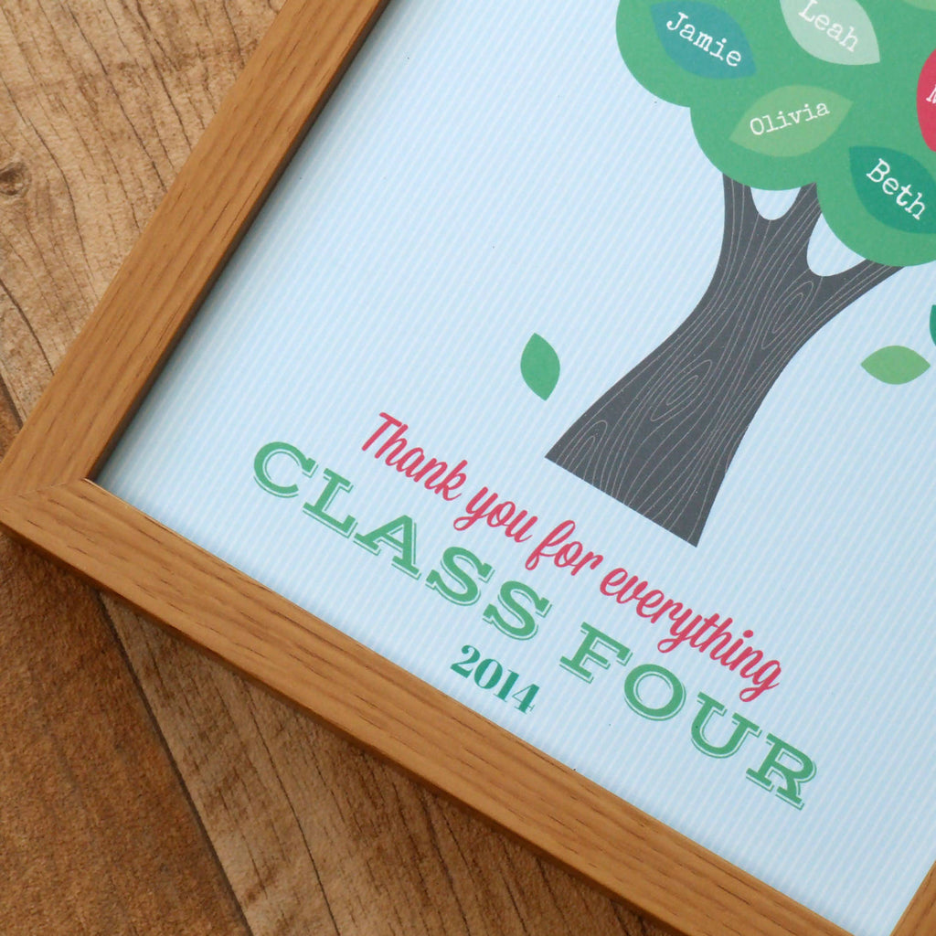 Personalised Teacher Thank You Print