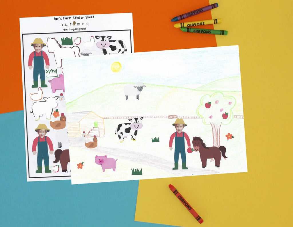 Personalised 'Farm' Sticker Sheet