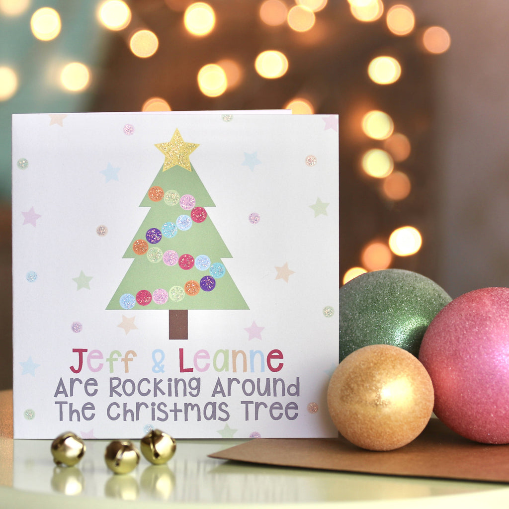 Personalised Rocking Around The Christmas Tree Card