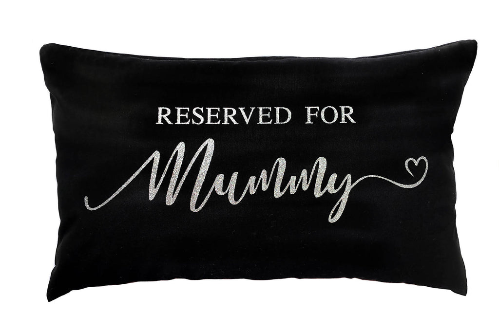 Personalised Reserved For Cushion - 50x30cm Cotton Cushion Personalised With The Name of Your Choice