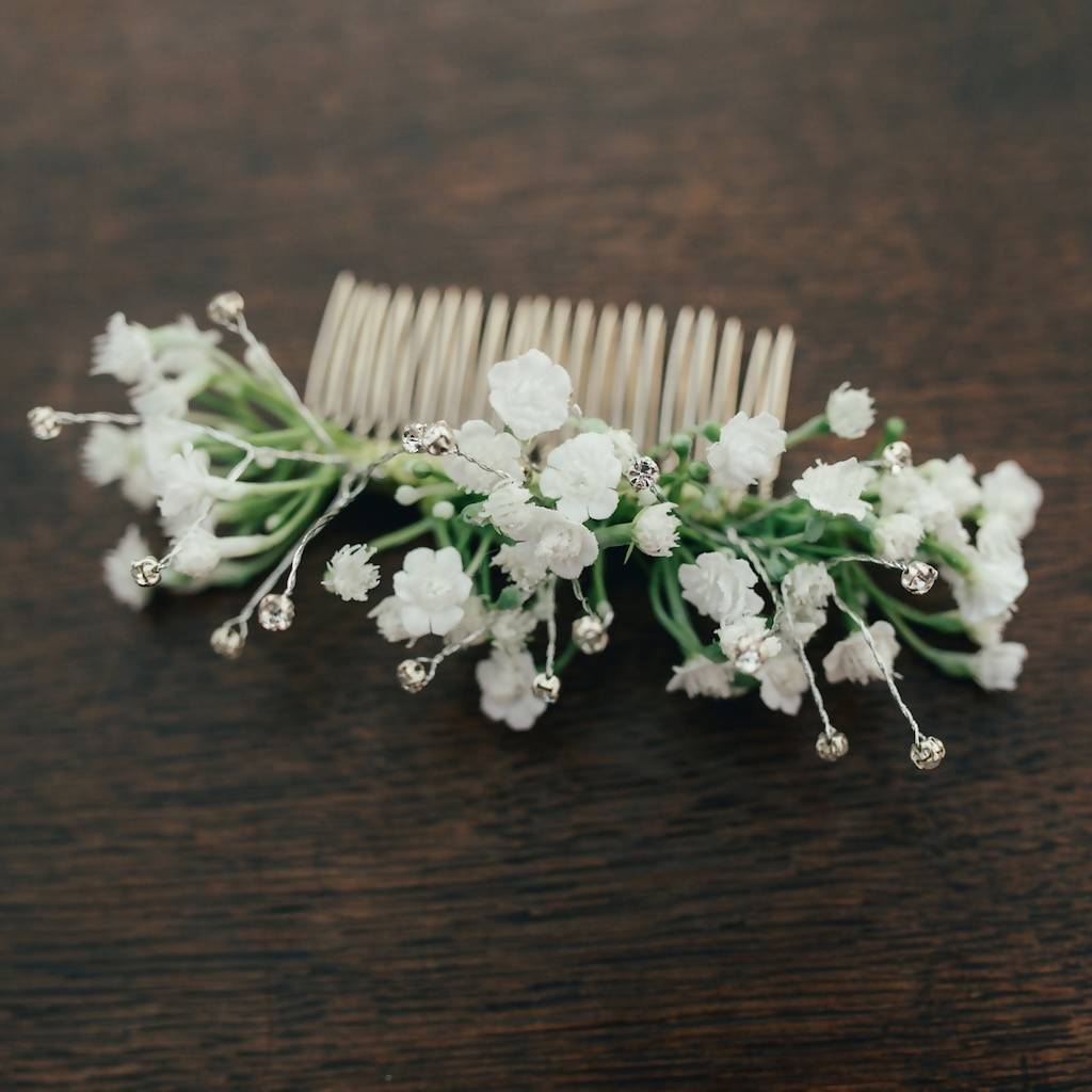 Eva Gypsophila Hair Comb