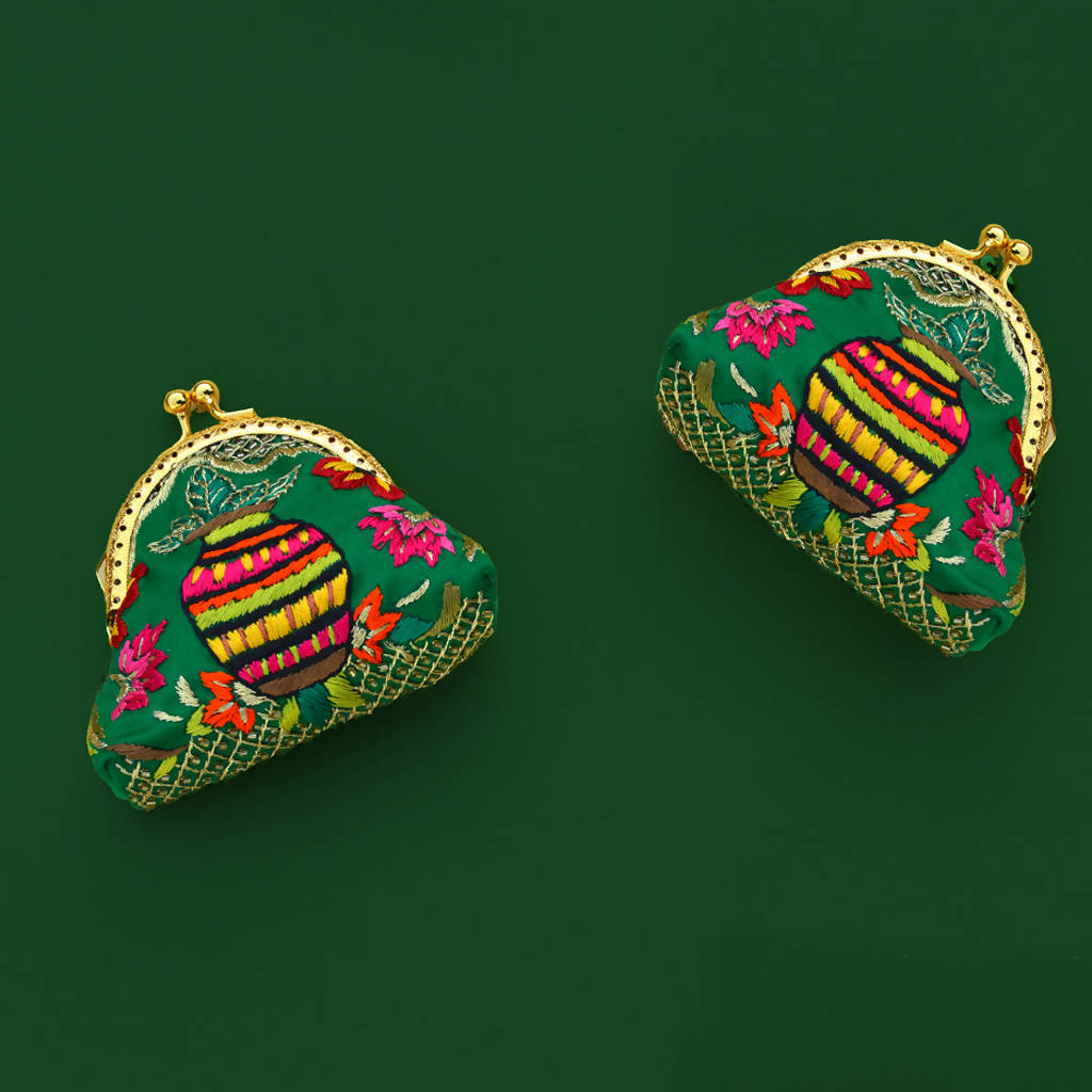 Embroidered Matka Purse