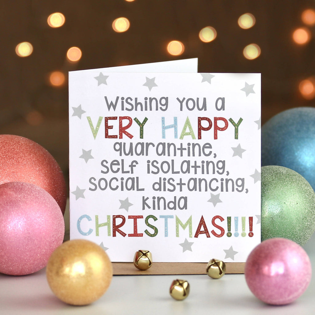 Happy Christmas Quarantine Social Distancing Card