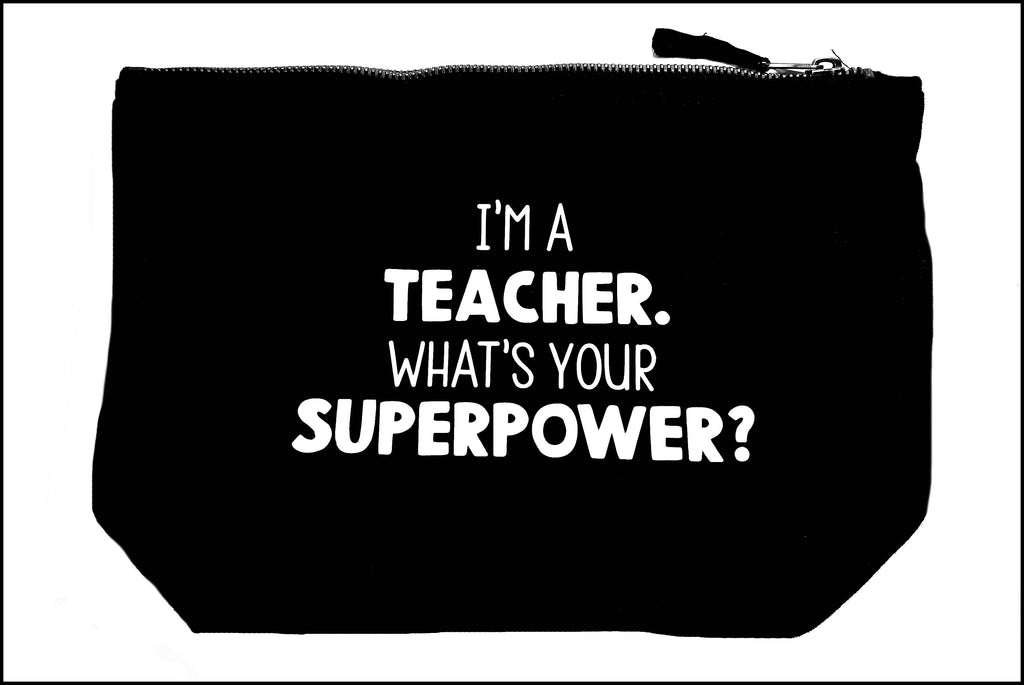Teacher Superpower Accessory Bags