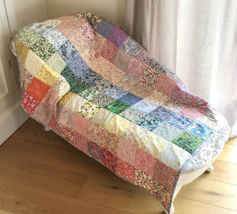 Rainbow Heirloom Quilt - Twin/Single