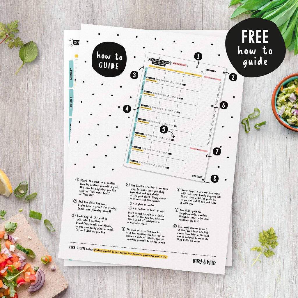 A4 Sort Your Life Out Meal Planner