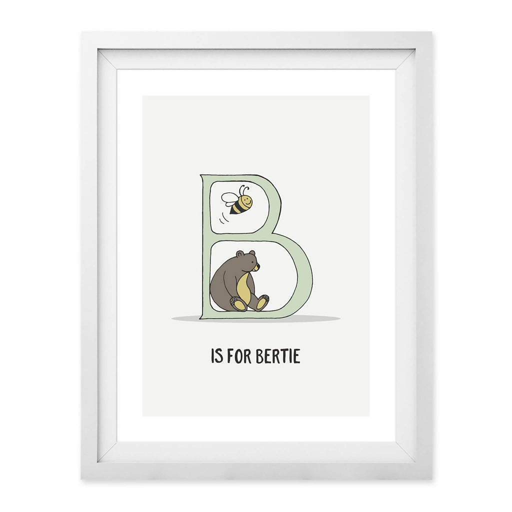 Alphabet Letter and Name Print (UNFRAMED)
