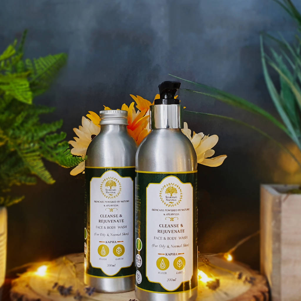 Cleanse & Rejuvenate Face & Body Wash (For Normal and Oily Skin types) 200ml (Sandalwood, Lemon and Rosemary)