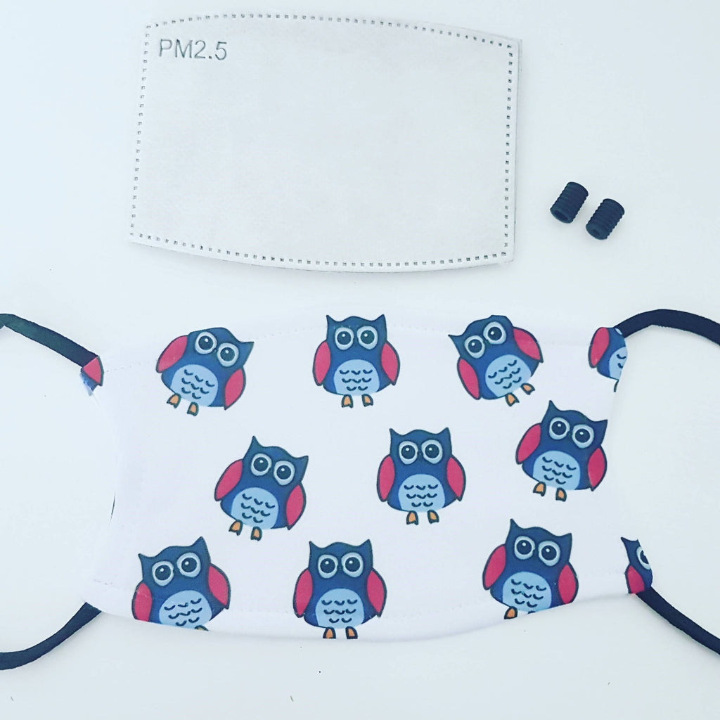 Adjustable Face Mask - Owls
