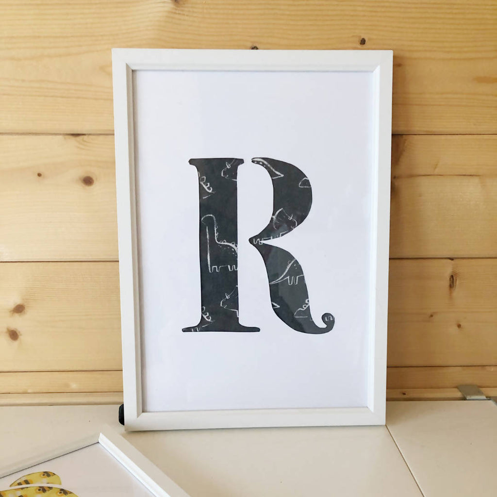 Your 1st Adventures Framed - Initial Letter