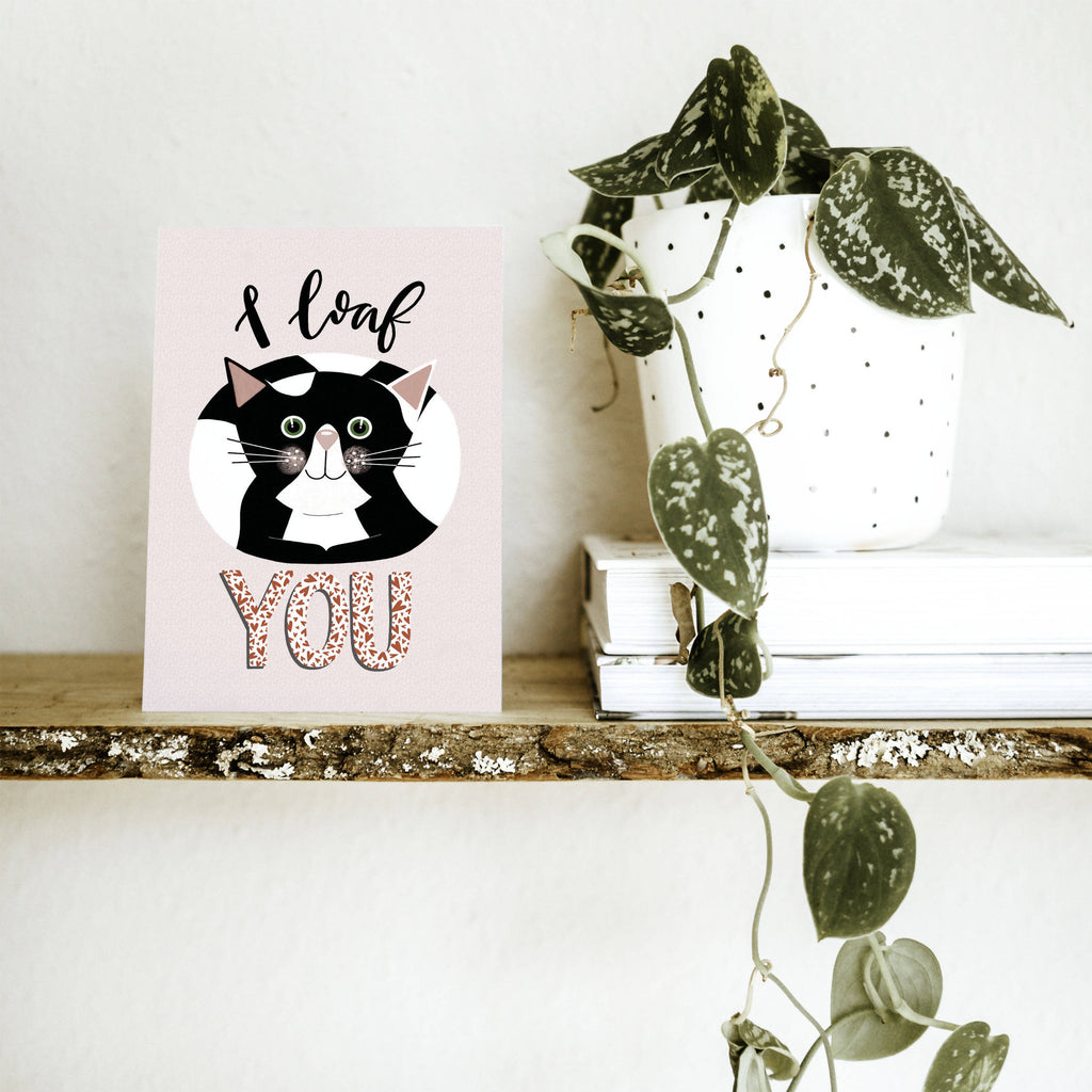 I Loaf You A6 Cat Card - Cute Cats Collection