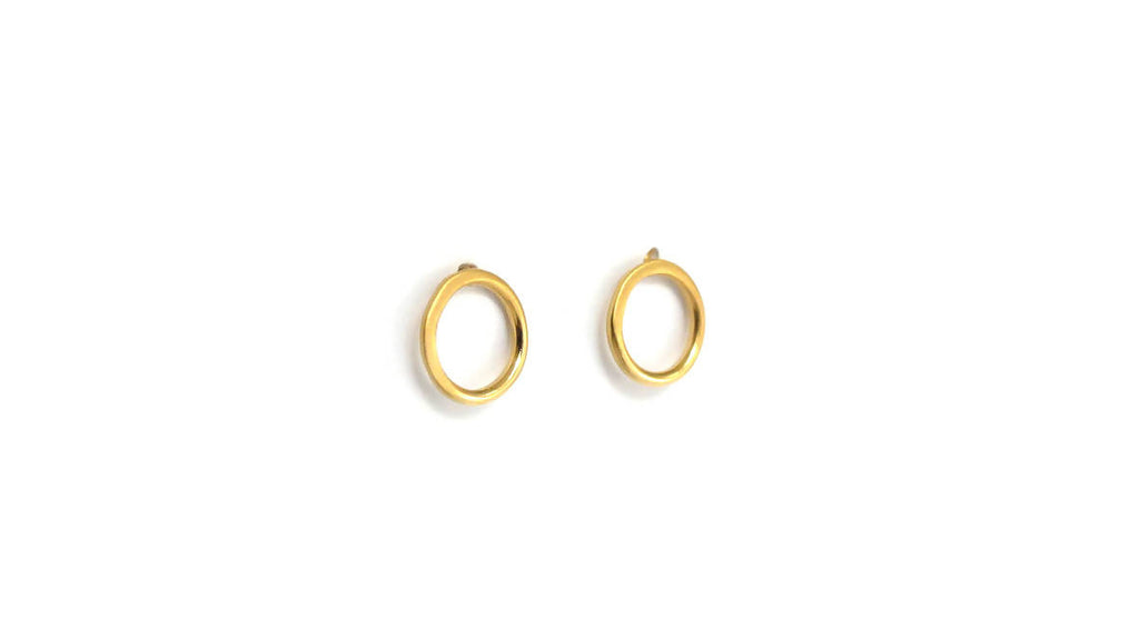 Gold Dot Stud Earrings - Design Vaults