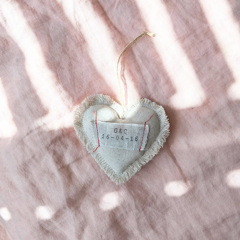 Personalised Christmas decoration | Hanging Heart