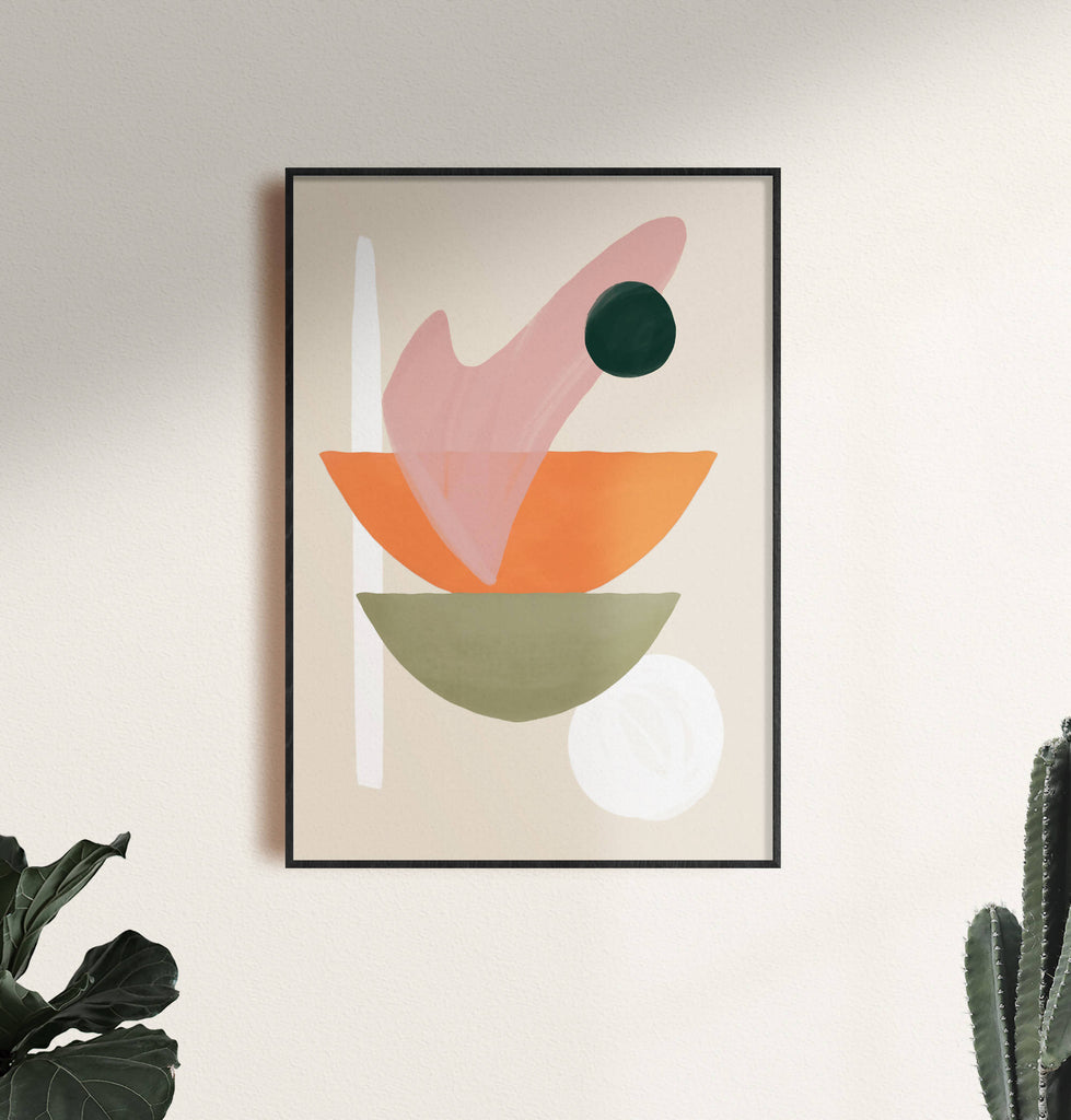 Modern Abstract Shapes Art Print