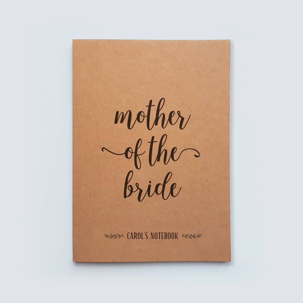 Personalised Mother of the Bride or Groom Notebook