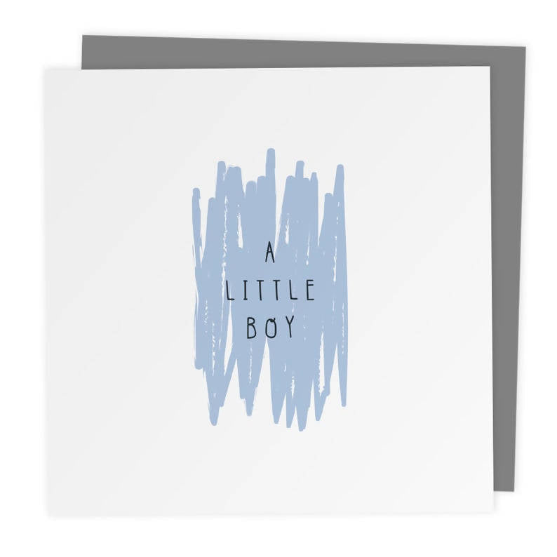A Little Boy - New Baby Boy Expectant Parents Greeting Card