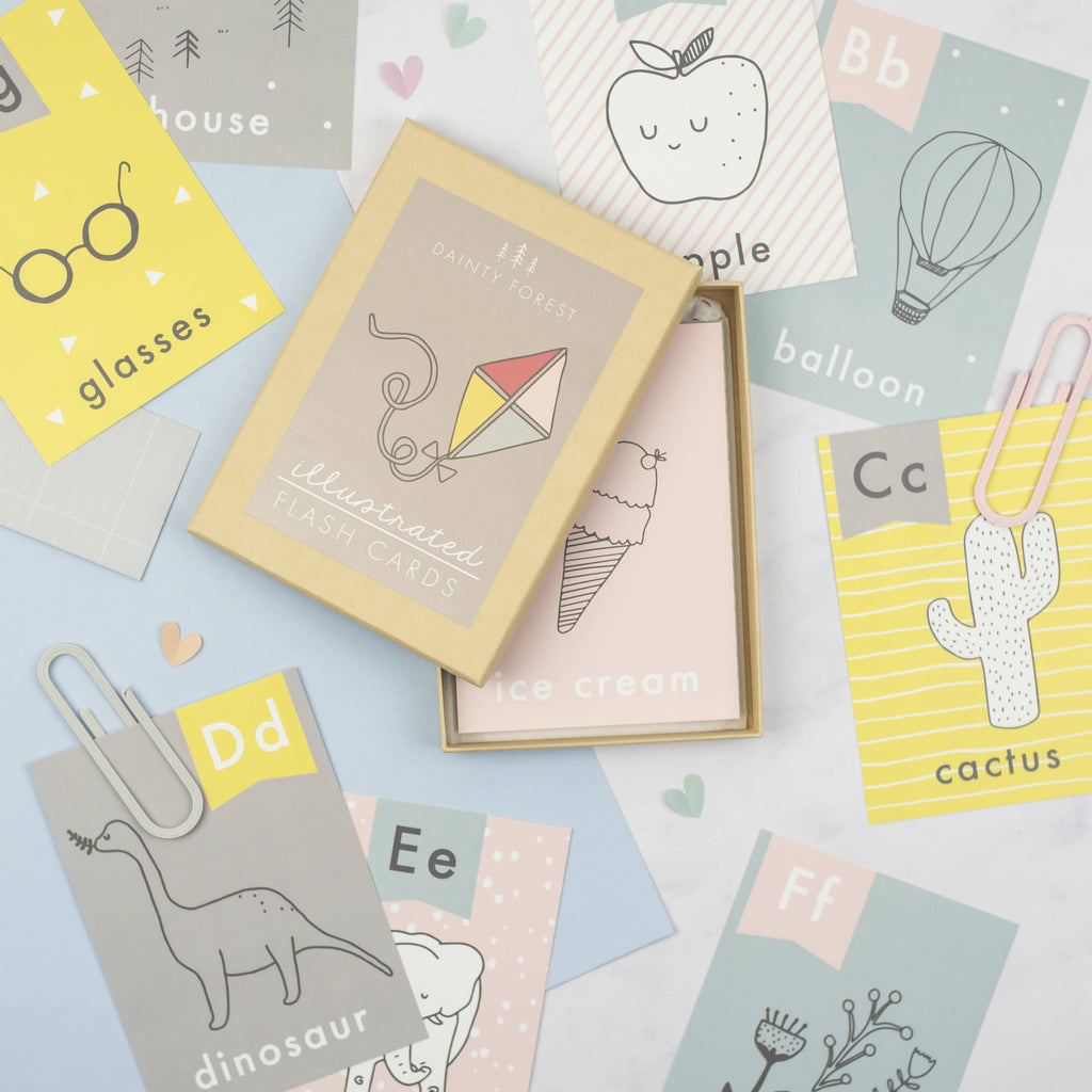 Illustrated flashcards