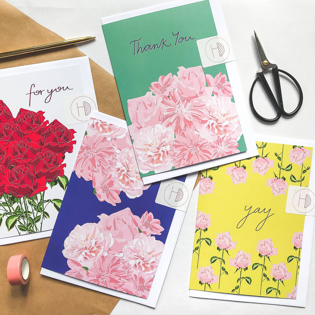 A5 For You Greetings Card - Spring Forward Collection